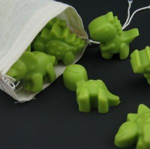12 Green Dinosaur Soy Wax Melts, Chocolate Mint